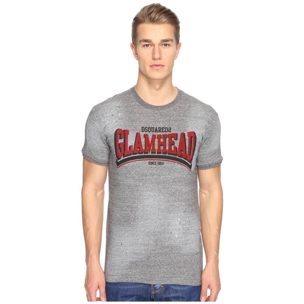 ディースクエアード メンズ トップス Tシャツ【Mod Evening Glamhead T-Shirt】Grey Melange