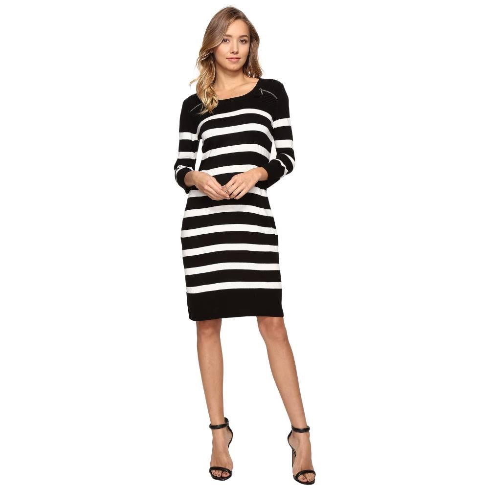 クリスティンマイケルズ レディース ワンピース・ドレス ワンピース【Monroe Stripe Dress】Black/Ivory