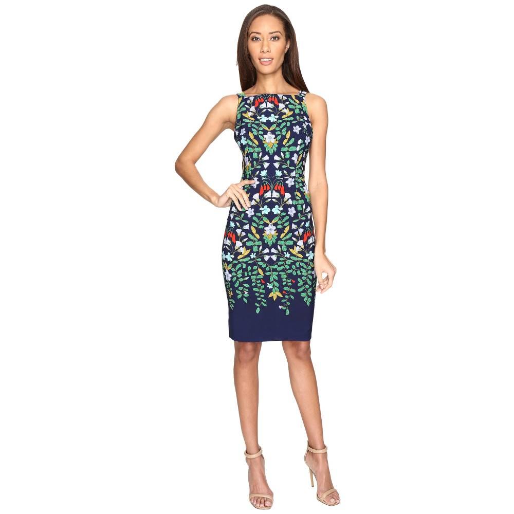 アドリアナ パペル レディース ワンピース・ドレス ワンピース【Printed Nouveau Blooms Sheath Dress】Green Multi