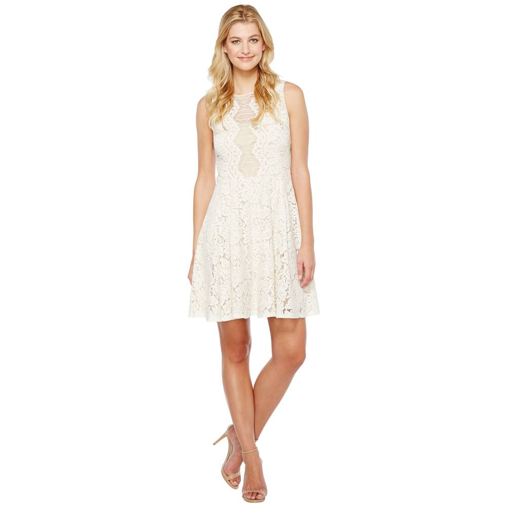 クリスティンマイケルズ レディース ワンピース・ドレス ワンピース【Harriet Sleeveless Lace Dress】Ivory/Nude