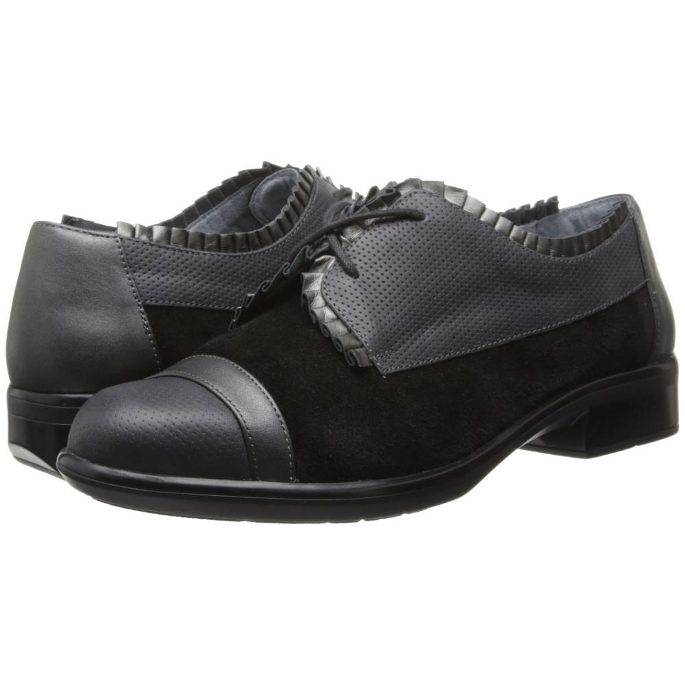 ナオトフットウェアー レディース シューズ・靴 ローファー・オックスフォード【Yama】Black Suede/Onyx Leather/Metallic Road Leather