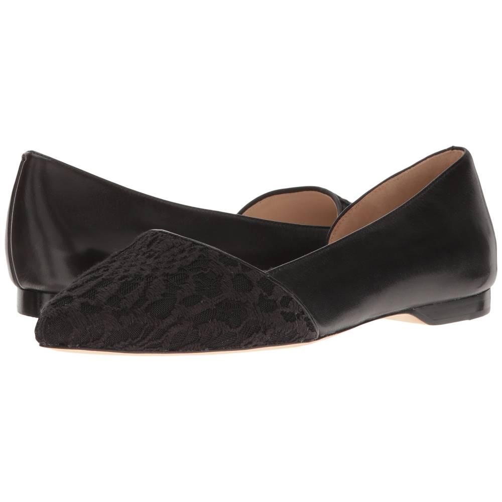コールハーン レディース シューズ・靴 スリッポン・フラット【Amalia Skimmer】Black Lace/Leather