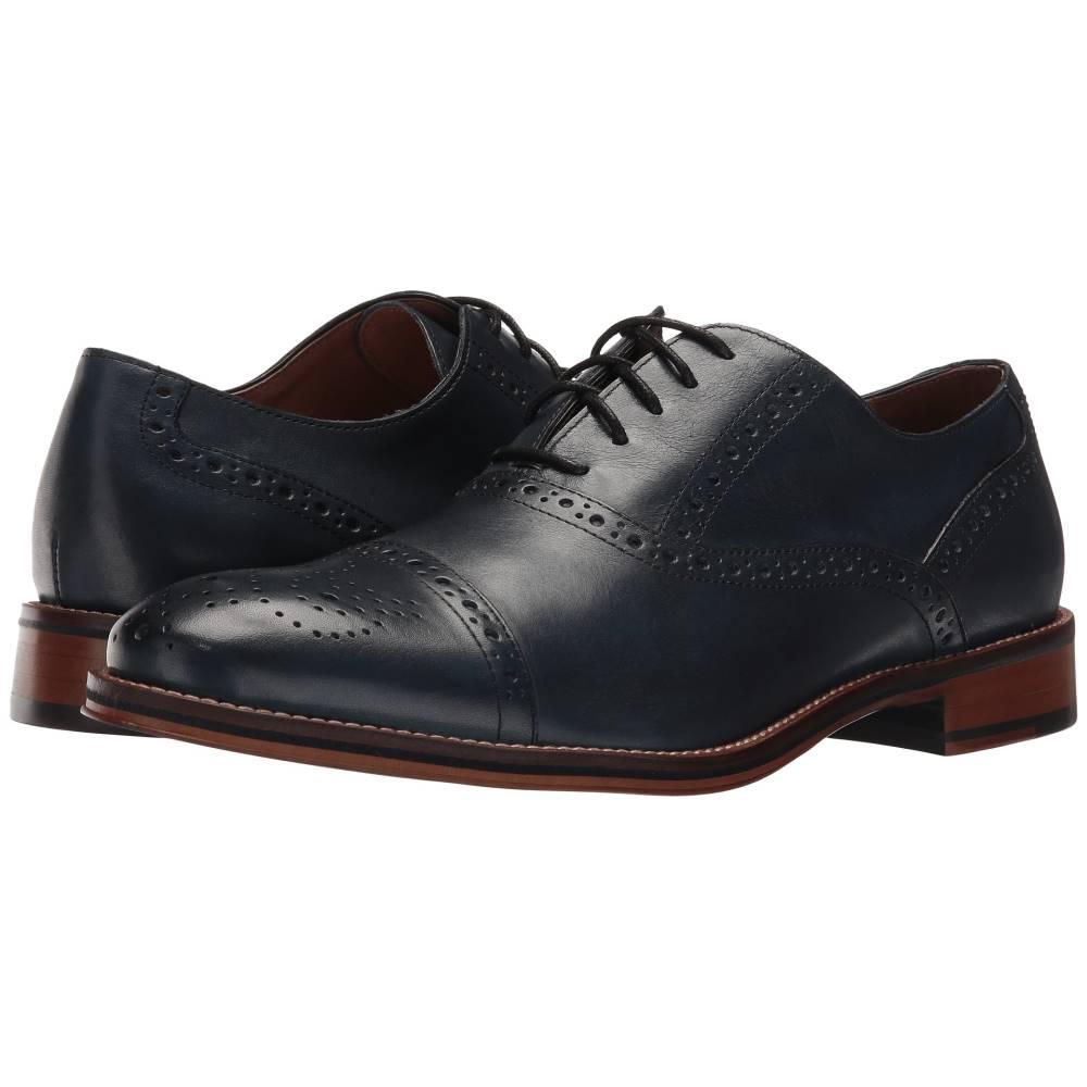 ジョンストン&マーフィー メンズ シューズ・靴 革靴・ビジネスシューズ【Conard Cap Toe】Navy Italian Calfskin