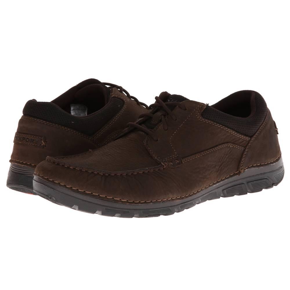 ロックポート メンズ シューズ・靴 革靴・ビジネスシューズ【RocSports Lite ZoneCush Moc Toe Oxford】Dark Brown