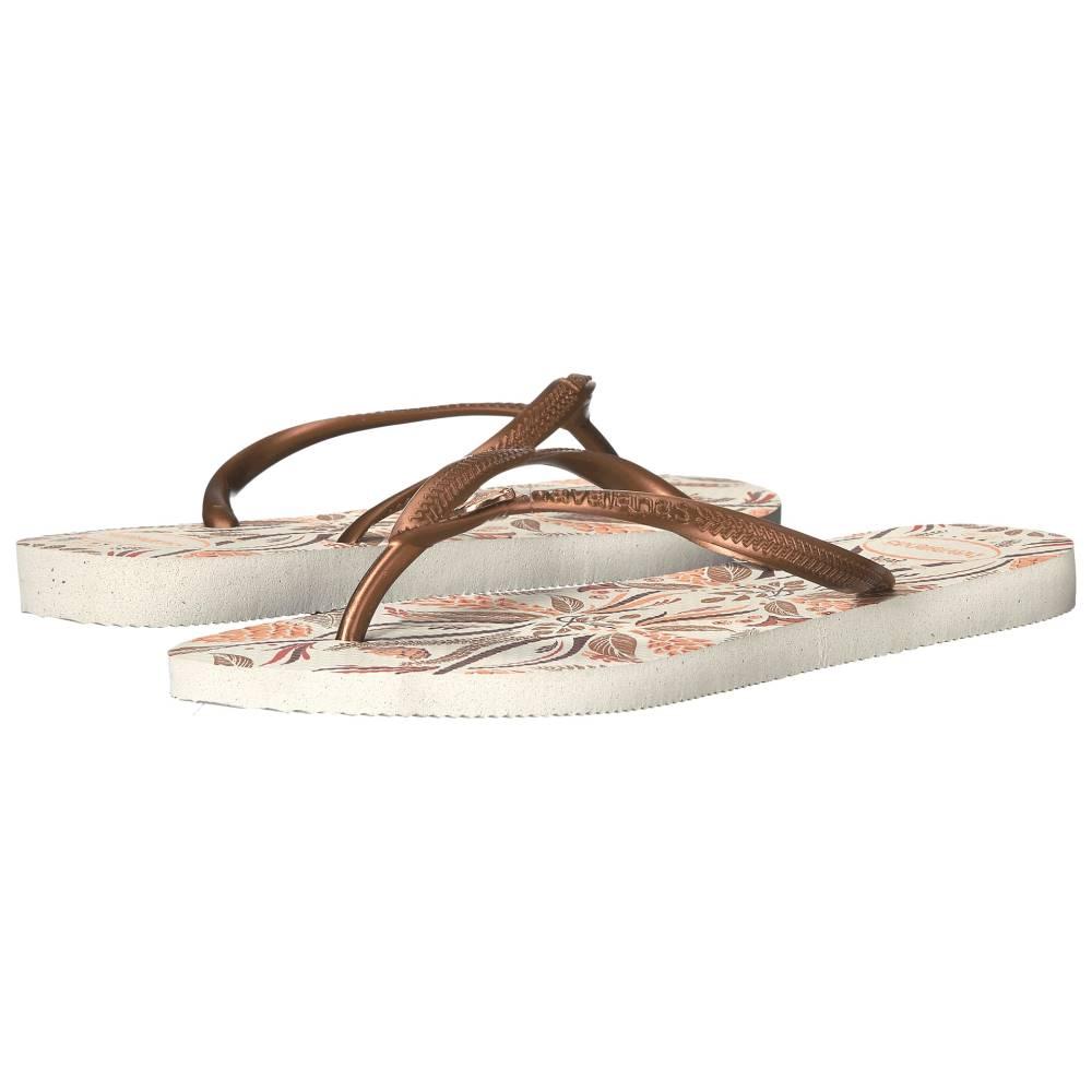 ハワイアナス レディース シューズ・靴 ビーチサンダル【Slim Royal Flip Flops】White/Cooper