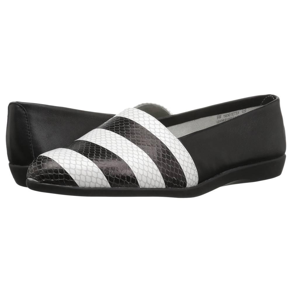 エアロソールズ レディース シューズ・靴 スリッポン・フラット【Trend Setter】Black/White Snake