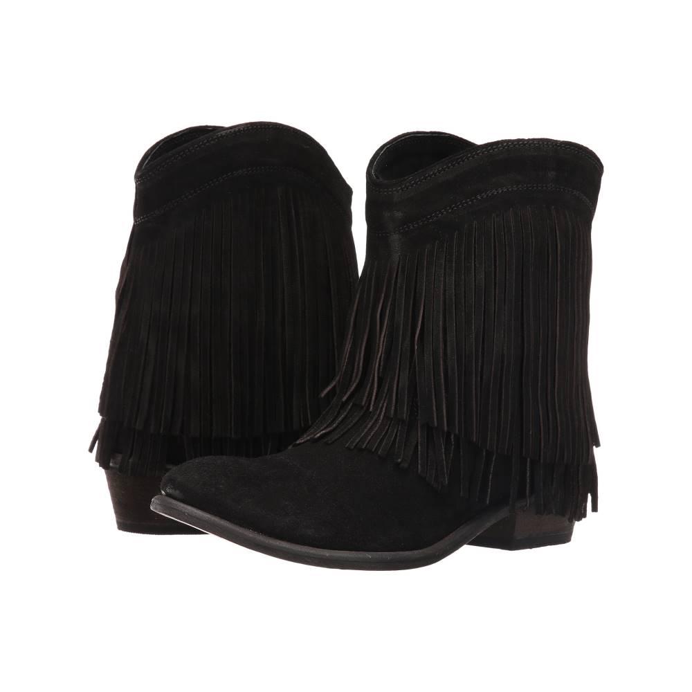ローパー レディース シューズ・靴 ブーツ【Fringe Shorty】Black Suede
