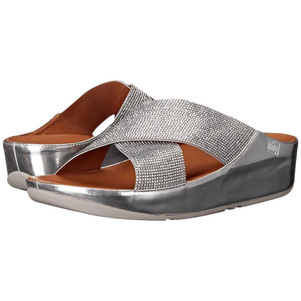 フィットフロップ レディース シューズ・靴 サンダル・ミュール【Crystall Slide】Silver