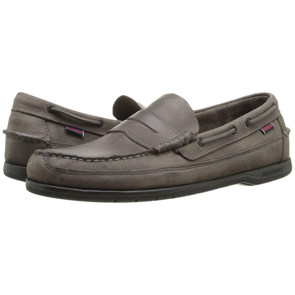 セバゴ メンズ シューズ・靴 革靴・ビジネスシューズ【Sloop】Dark Grey Tumbled Leather