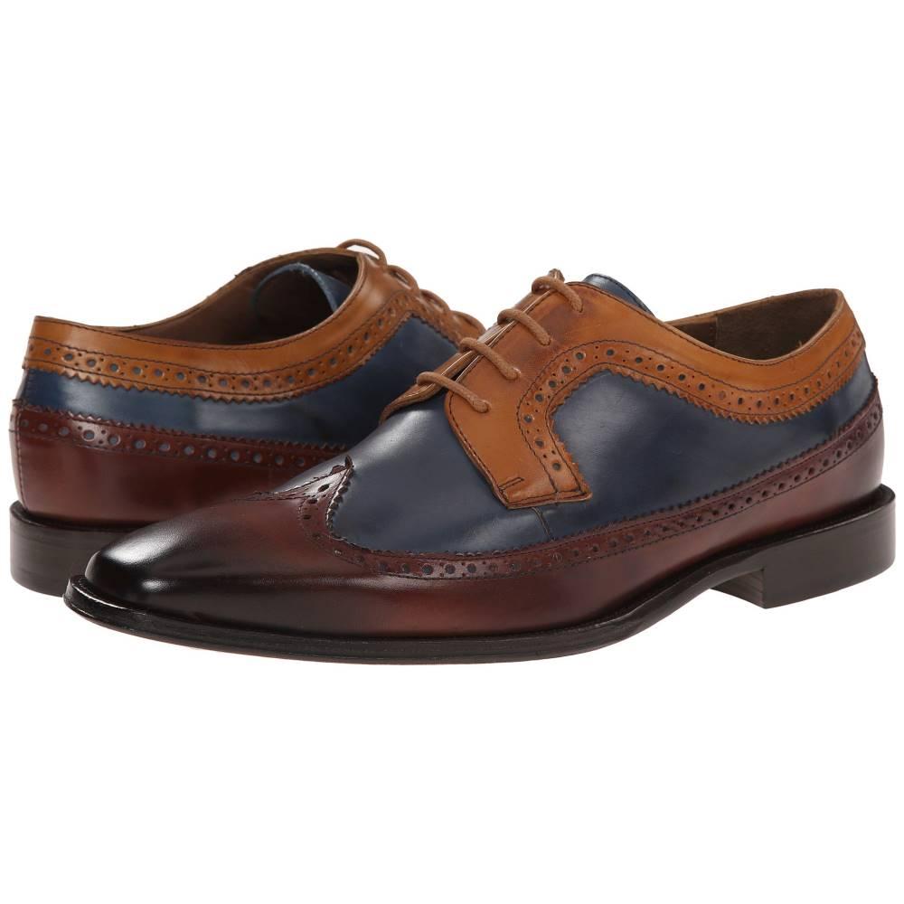 メッシコ メンズ シューズ・靴 革靴・ビジネスシューズ【Chamarel】Yellow/Blue/Cognac Leather