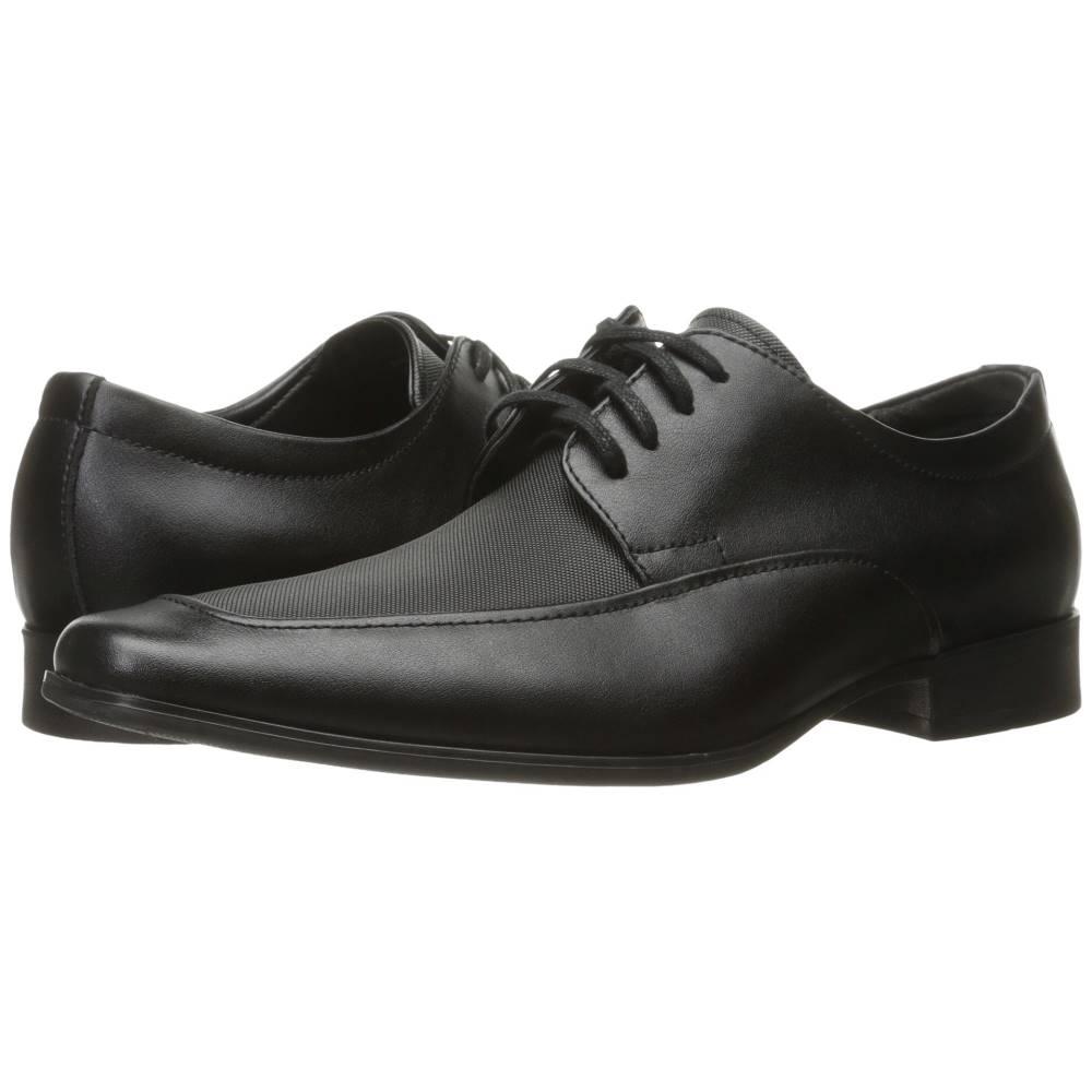 カルバンクライン メンズ シューズ・靴 革靴・ビジネスシューズ【Benji】Black Emboss Soft Leather