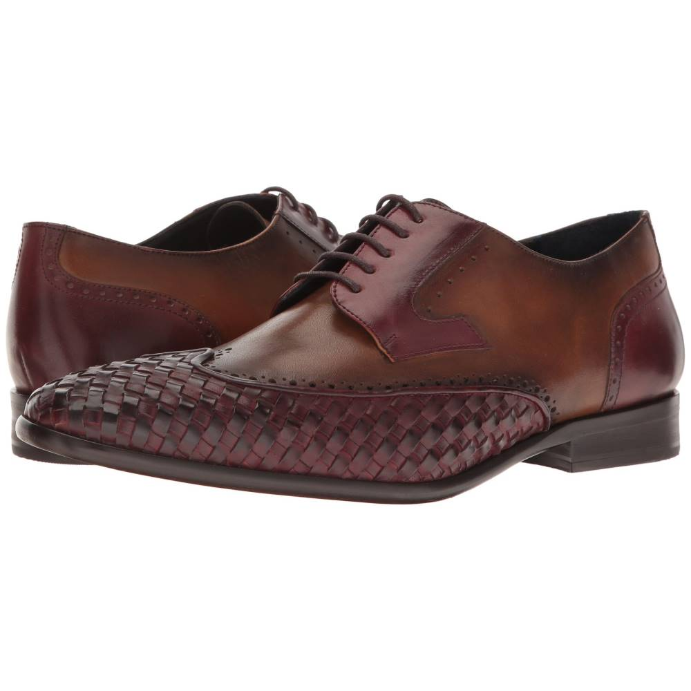 メッシコ メンズ シューズ・靴 革靴・ビジネスシューズ【Paolo】Burgundy/Honey Leather