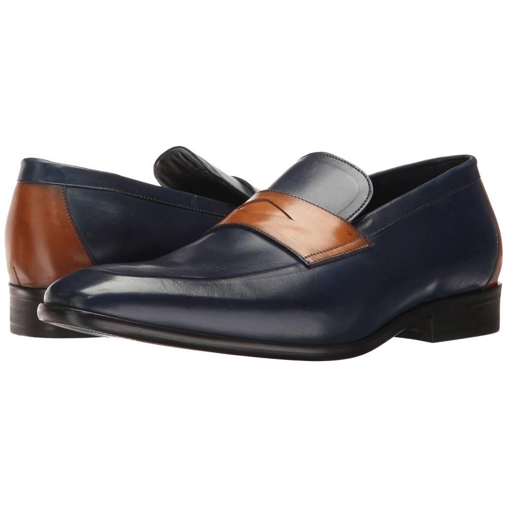 メッシコ メンズ シューズ・靴 革靴・ビジネスシューズ【Orozco】Navy/Honey Leather