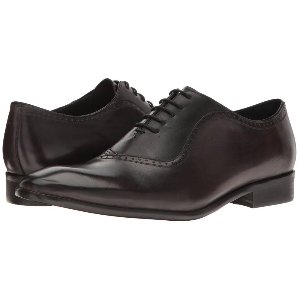 メッシコ メンズ シューズ・靴 革靴・ビジネスシューズ【Osvaldo】Grey/Black Leather