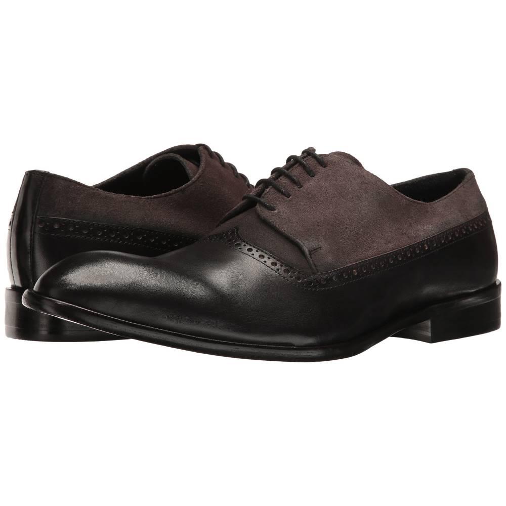 メッシコ メンズ シューズ・靴 革靴・ビジネスシューズ【Palmiro】Black Leather/Grey Suede Leather
