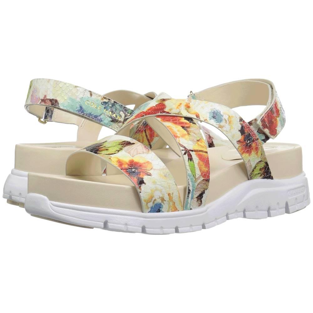 コールハーン レディース シューズ・靴 サンダル・ミュール【Zerogrand Crisscross Sandal (Bds)】Floral Print/Optic White