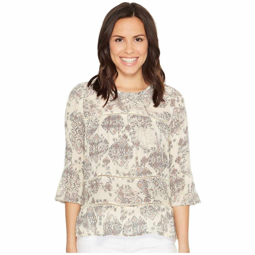 ラッキーブランド レディース トップス ブラウス・シャツ【Ruffle Print Shirt】Natural Multi