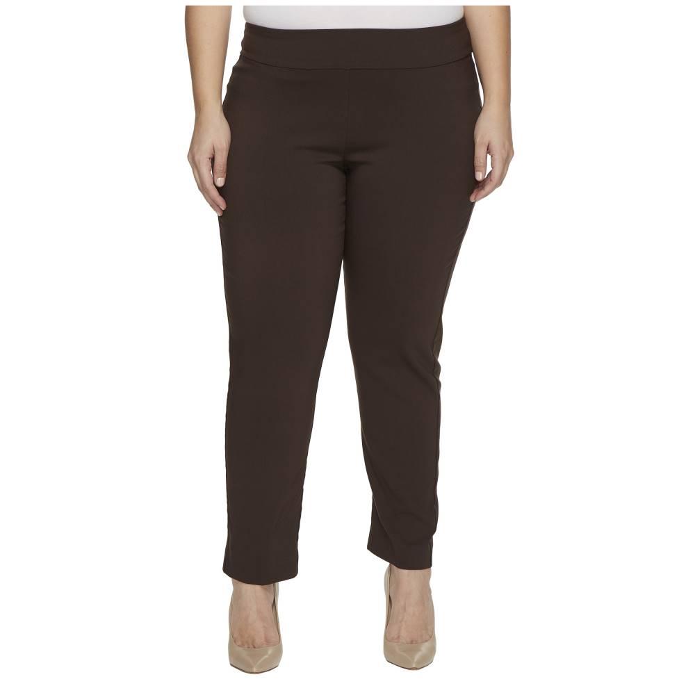 うまく売れる クレイジーラリー レディース ボトムス・パンツ【Plus Size Pull-On Ankle Pants】Brown