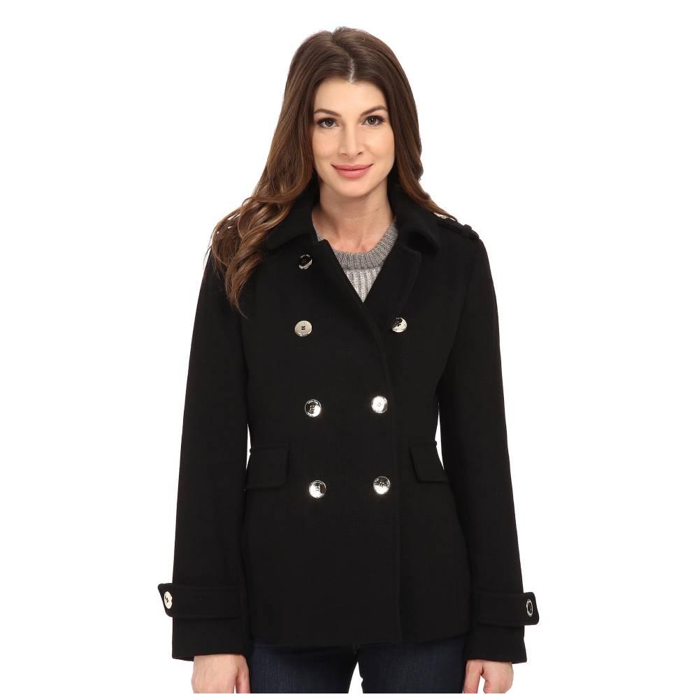 カルバンクライン レディース アウター コート【Double Breasted Wool Coat】Black