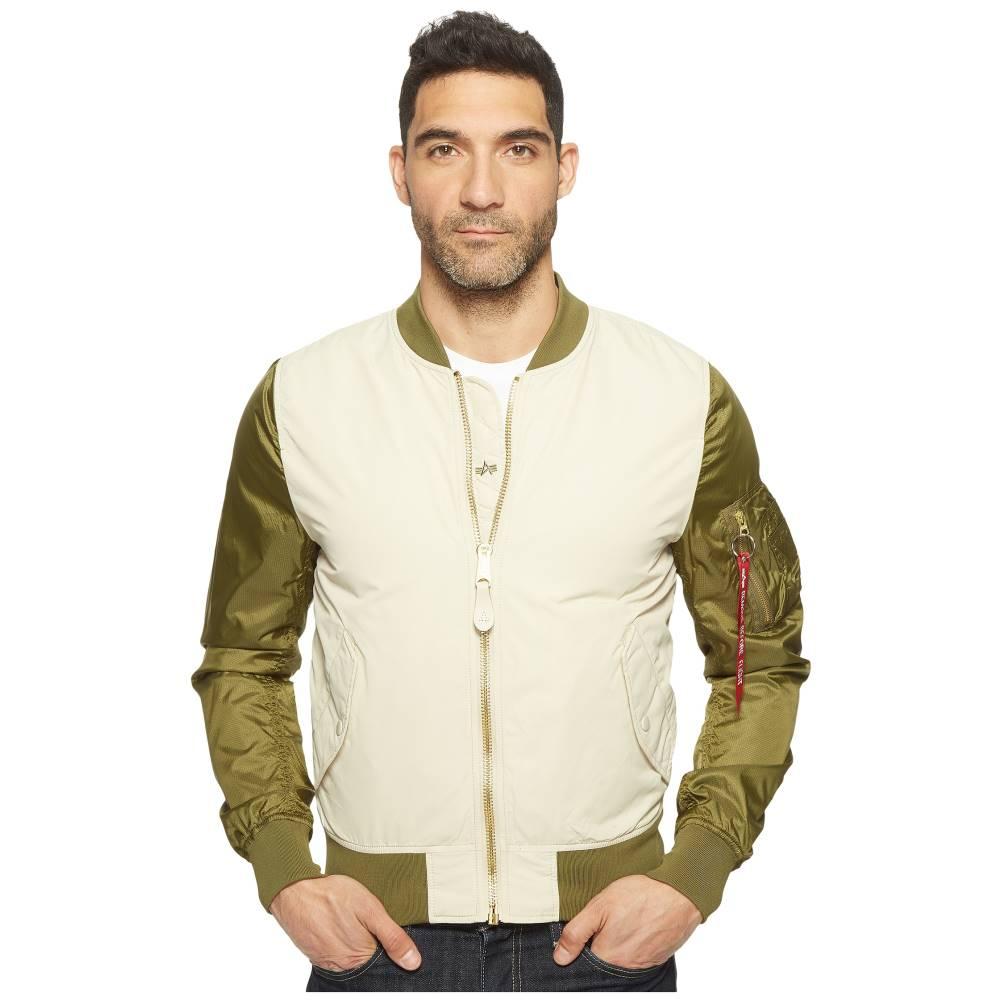 アルファインダストリーズ メンズ アウター ジャケット【L-2B Dragonfly Blood Chit Jacket】Vintage White/Jungle Green