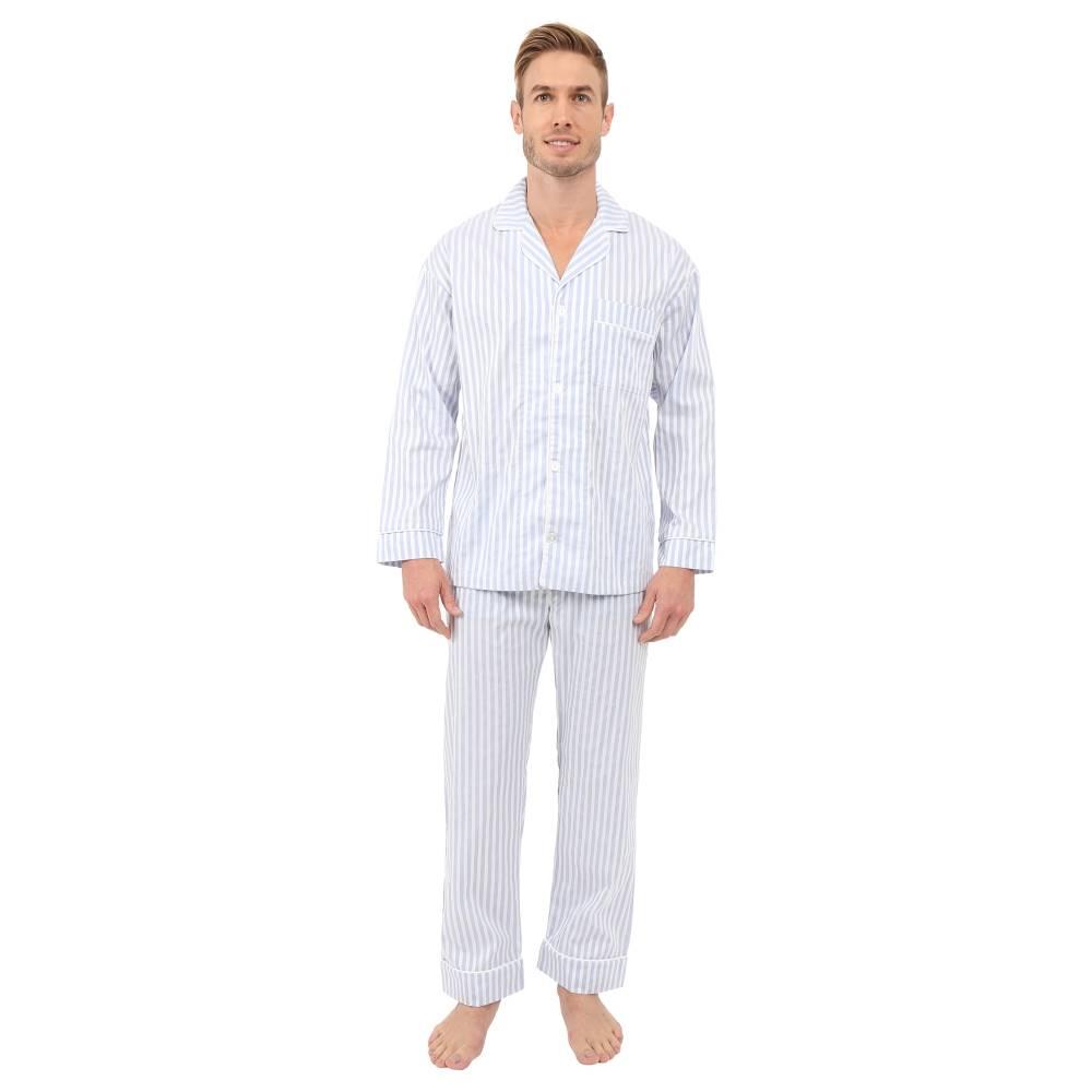 ベッドヘッド メンズ インナー・下着 パジャマ・上下セット【Long Sleeve Classic Bottom Pajama Set】3D Strtipes Blue