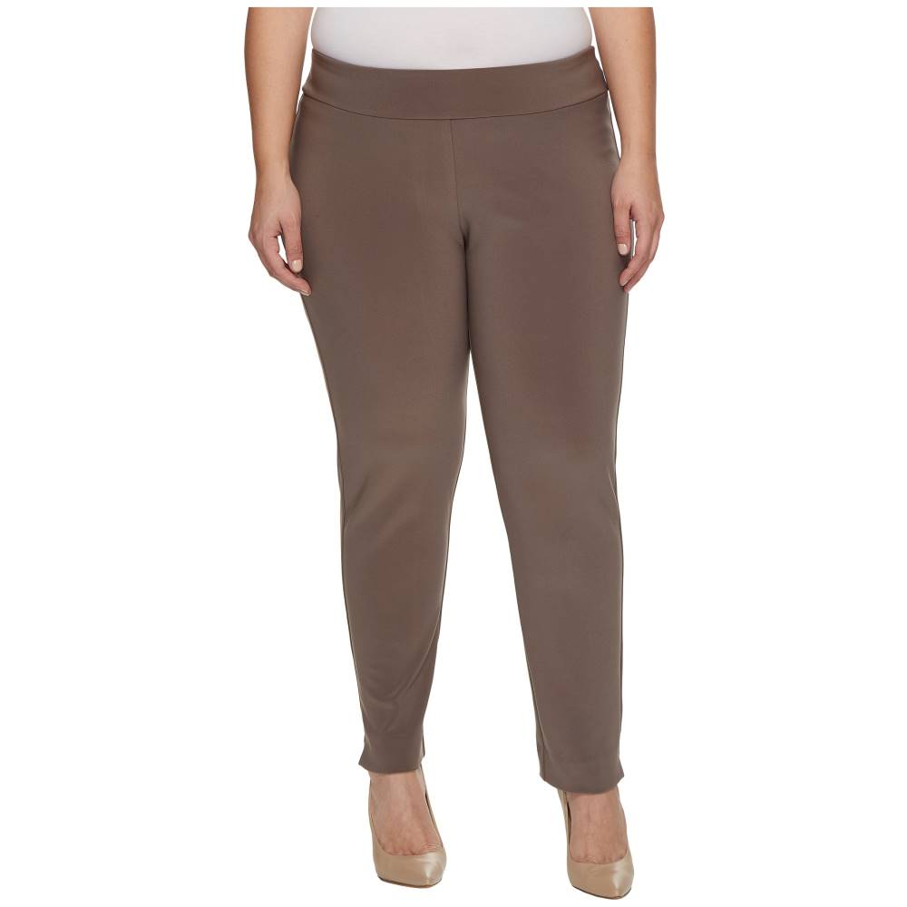 【防水】 クレイジーラリー レディース ボトムス・パンツ【Plus Size Microfiber Long Skinny Dress Pants】Taupe