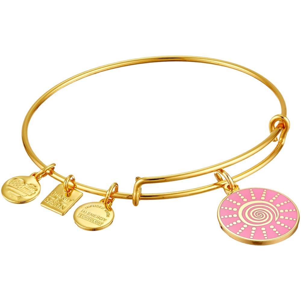 アレックス アンド アニ レディース ジュエリー・アクセサリー ブレスレット【Charity by Design - Spiral Sun Expandable Charm Bangle Bracelet】Shiny Gold