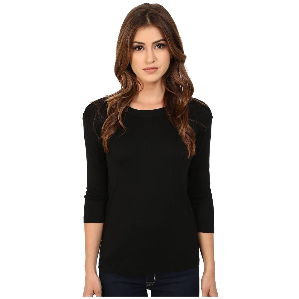 マイケルスターズ レディース トップス Tシャツ【Shine Crew Neck Shirt】Black