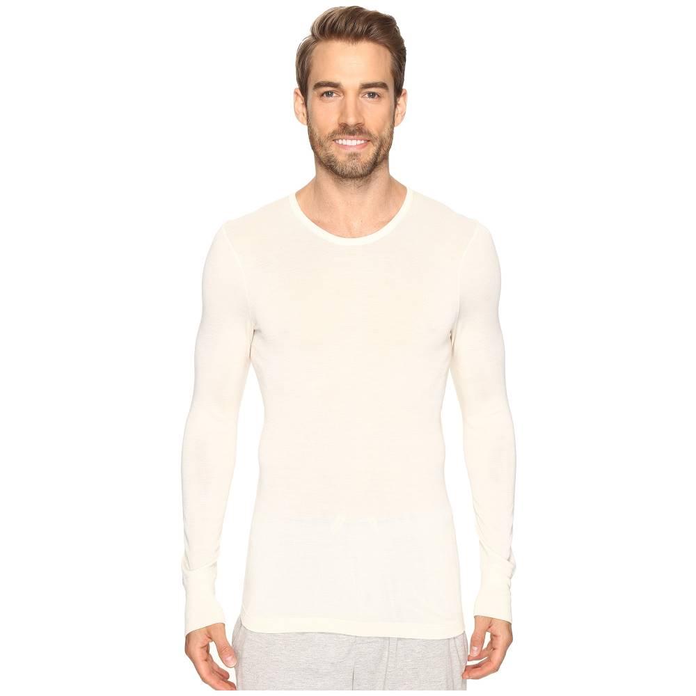 ハンロ メンズ インナー・下着 パジャマ・トップのみ【Woolen Silk Long Sleeve Shirt】Cygne