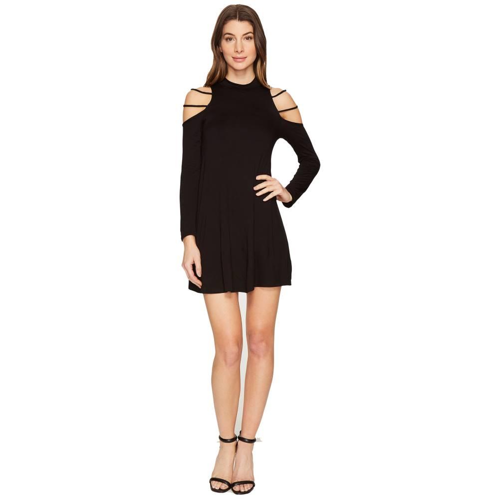 カルチャー フィット レディース ワンピース・ドレス ワンピース【Kassedy Cold Shoulder Mock Neck Dress】Black