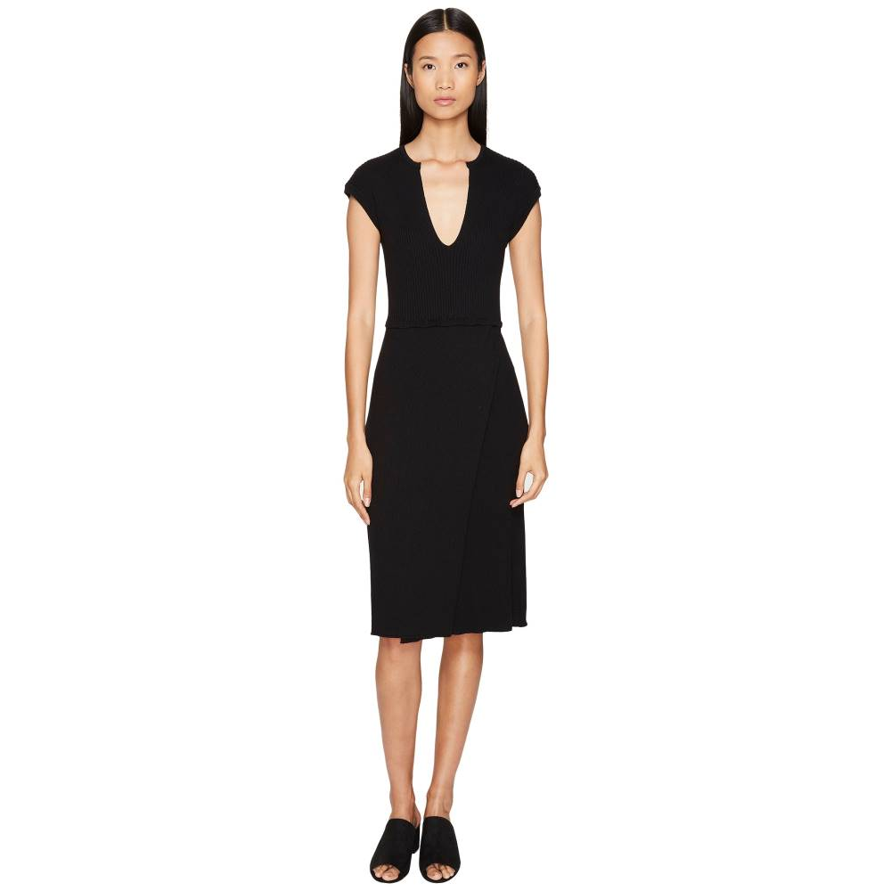 カシミール イン ラブ レディース ワンピース・ドレス ワンピース【Camilla Ribbed Dress】Black