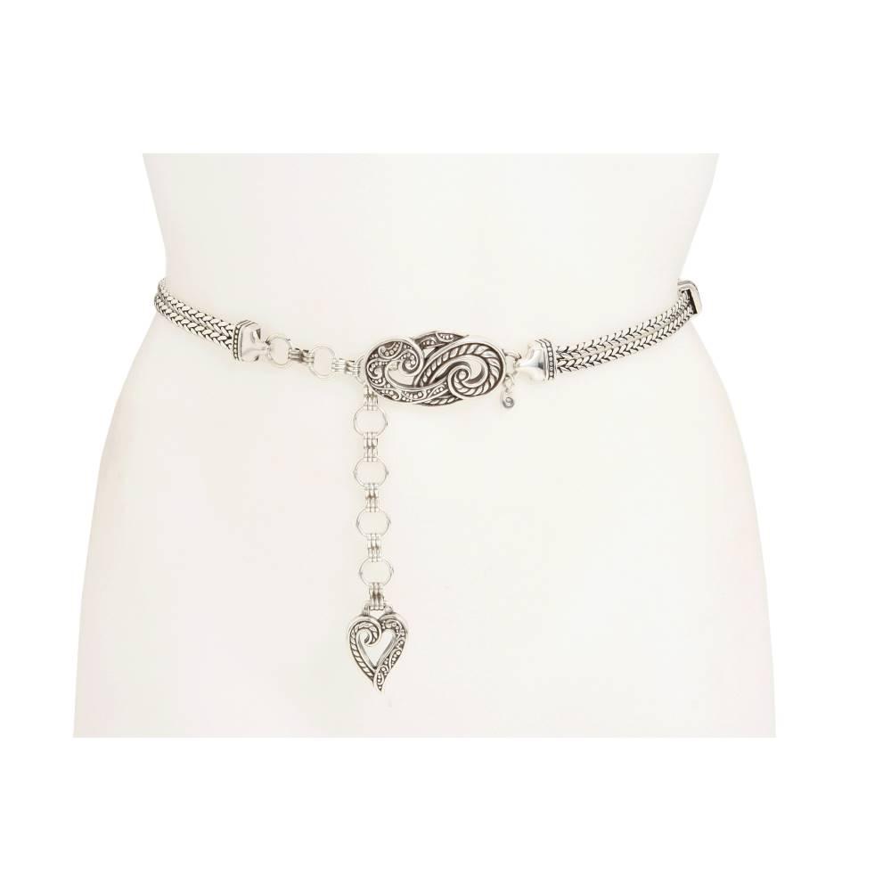 ブライトン レディース ファッション小物 ベルト【Bali Hai Chain Belt】Silver