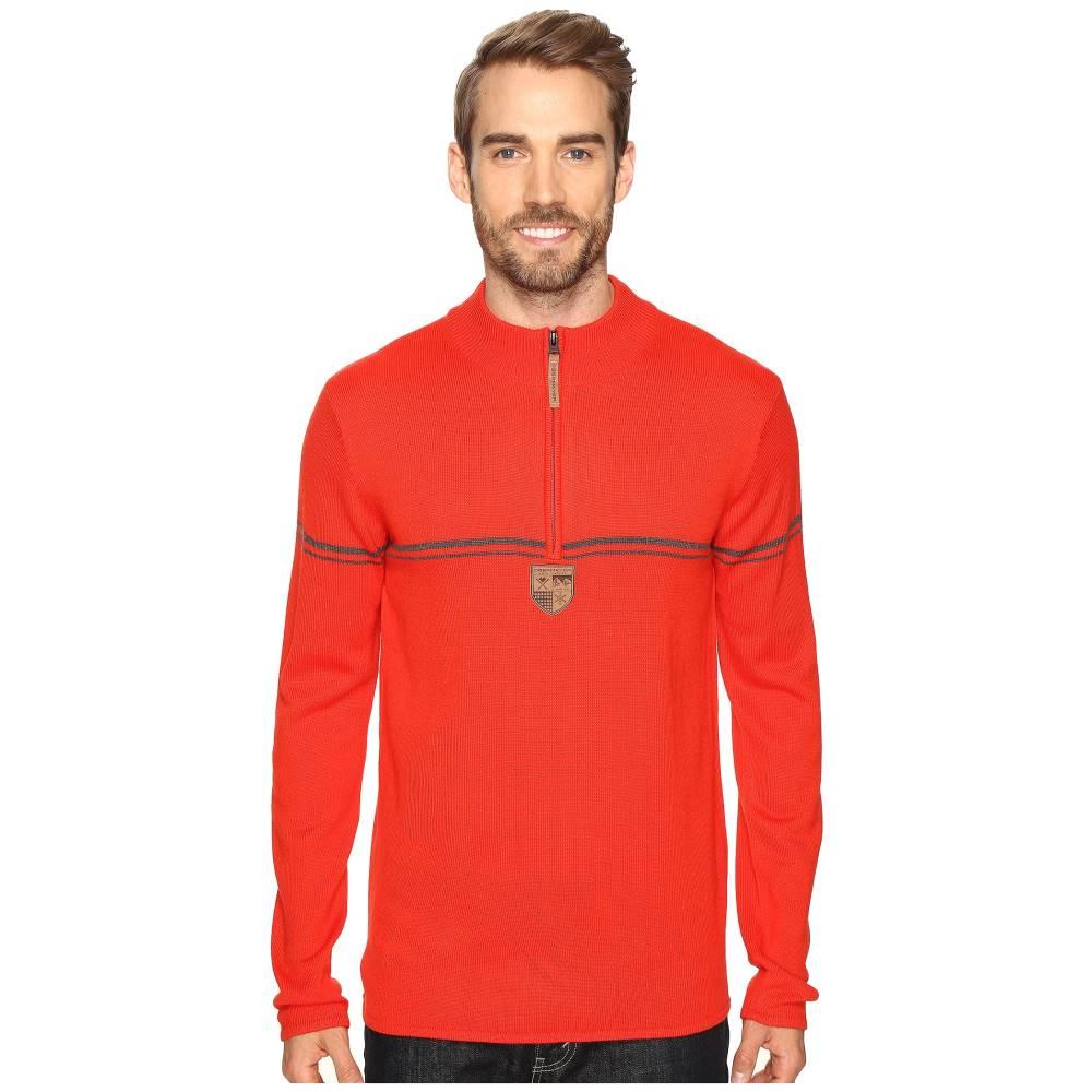 大幅値下げ オバマイヤー メンズ トップス ニット・セーター【Zurich 1/2 Zip Sweater】Red
