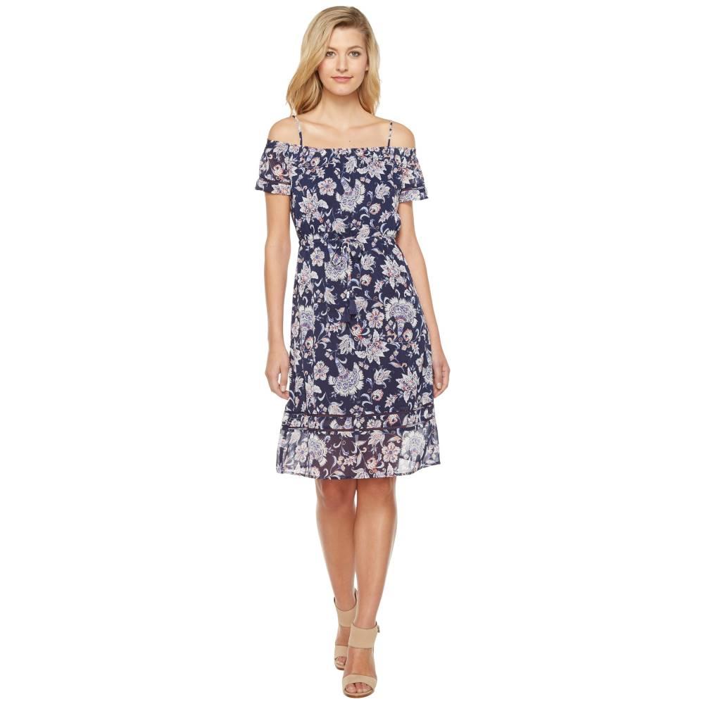 ラッキーブランド レディース ワンピース・ドレス ワンピース【Cold Shoulder Dress】Navy Multi