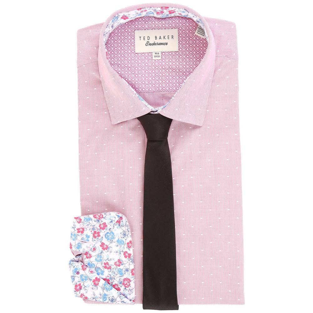 テッドベーカー メンズ トップス【Crete Endurance Sterling Shirt】Pink