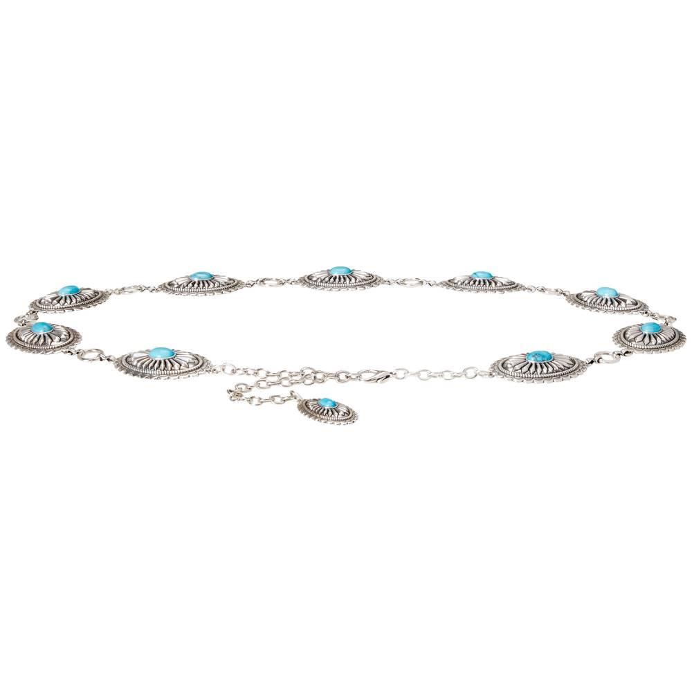 アリアト レディース ファッション小物 ベルト【Turquoise Concho Chain Belt】Silver