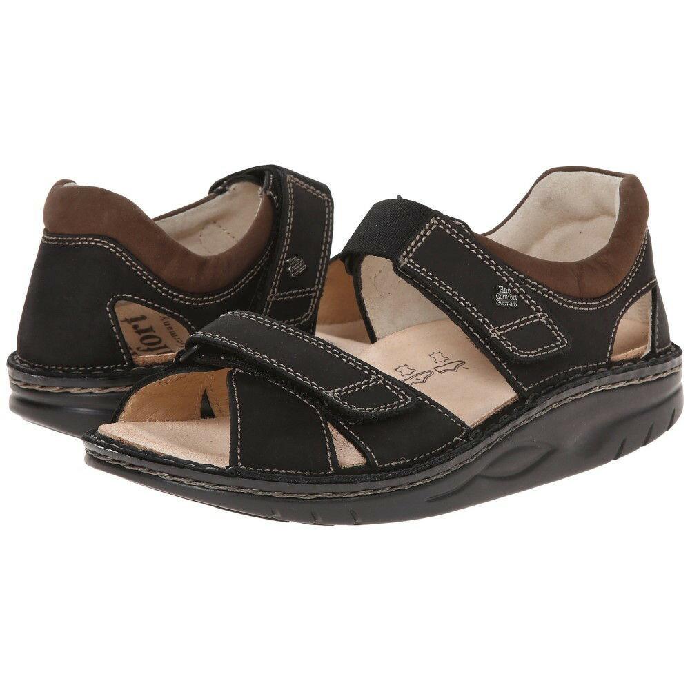 フィンコンフォート メンズ シューズ?靴 サンダル【Samara - 1560】Black/Havana Leather