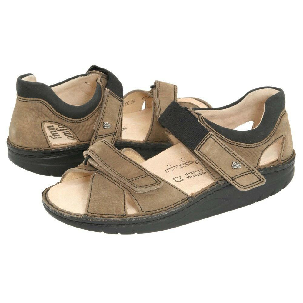 フィンコンフォート メンズ シューズ?靴 サンダル【Samara - 1560】Mud/Black Leather