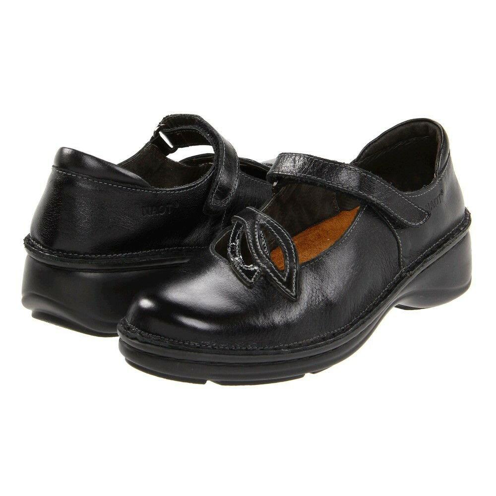 ナオトフットウェアー レディース シューズ・靴 ヒール【Primrose】Black Madras Leather/Black Crinkle Patent Leather