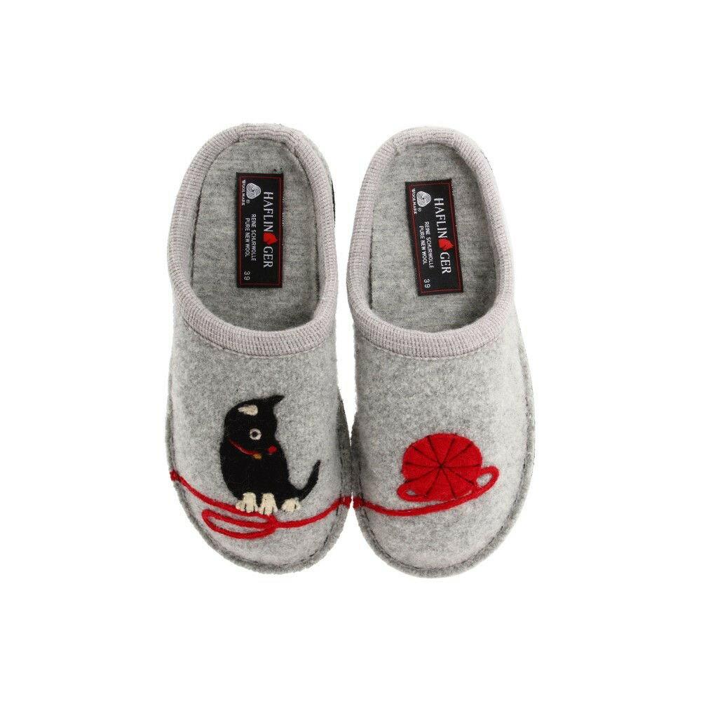 ハフリンガー レディース シューズ・靴 スリッパ【Cat Slipper】Grey