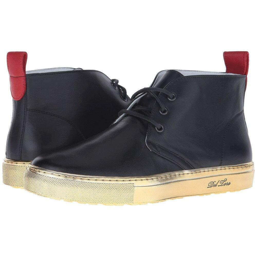 デル トロ メンズ シューズ・靴 スニーカー【High Top Chukka Sneaker】Black/Gold