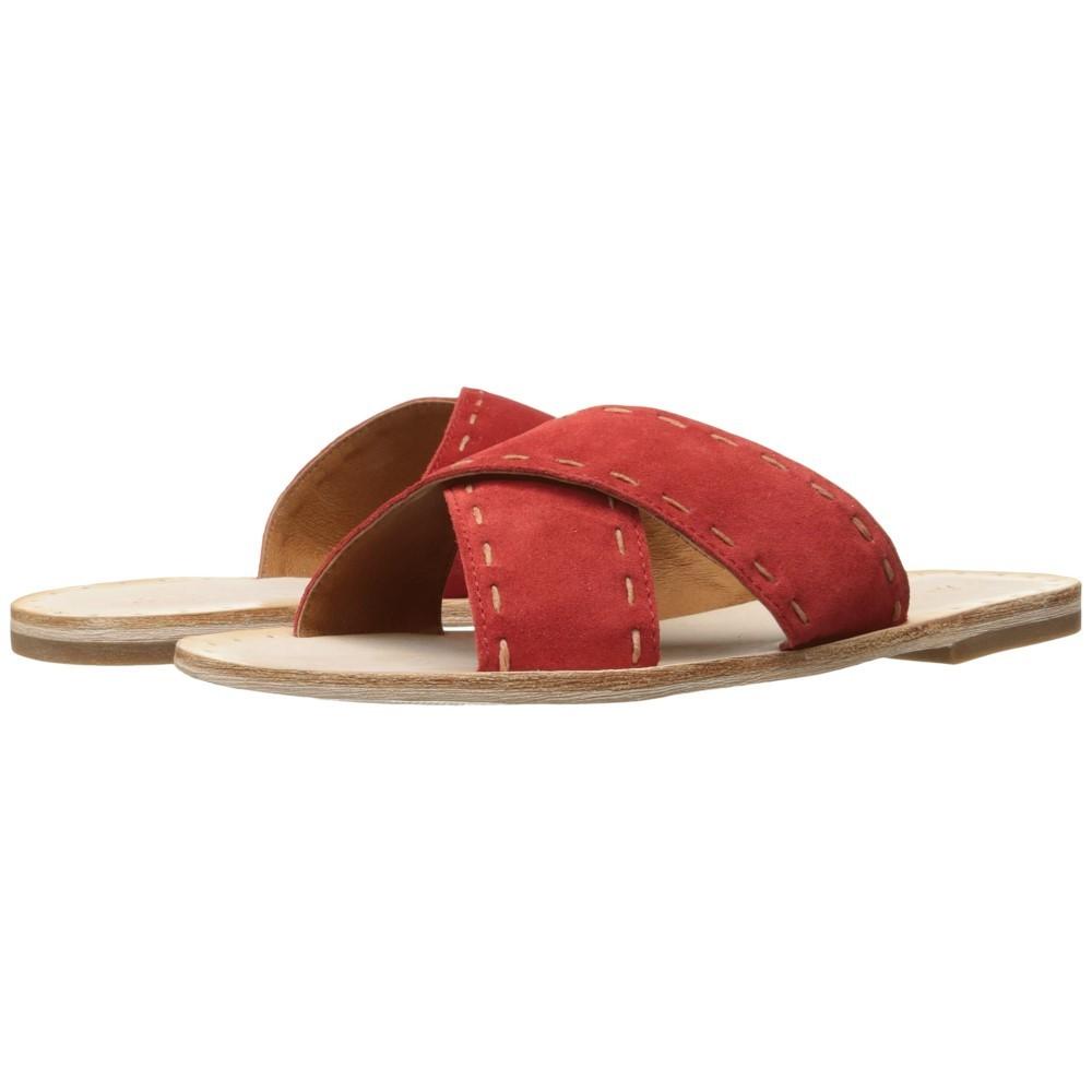 フライ レディース シューズ・靴 サンダル・ミュール【Avery Pickstitch Slide】Red Soft Oiled Suede