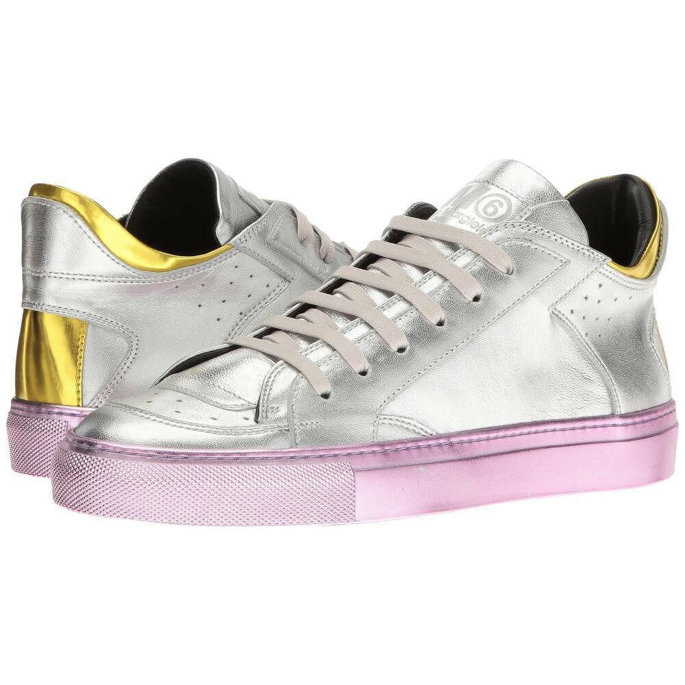 エムエム6 メゾン マルジェラ レディース シューズ?靴 スニーカー【Laminated Low Sneaker】Silver/Yellow Laminated Leather