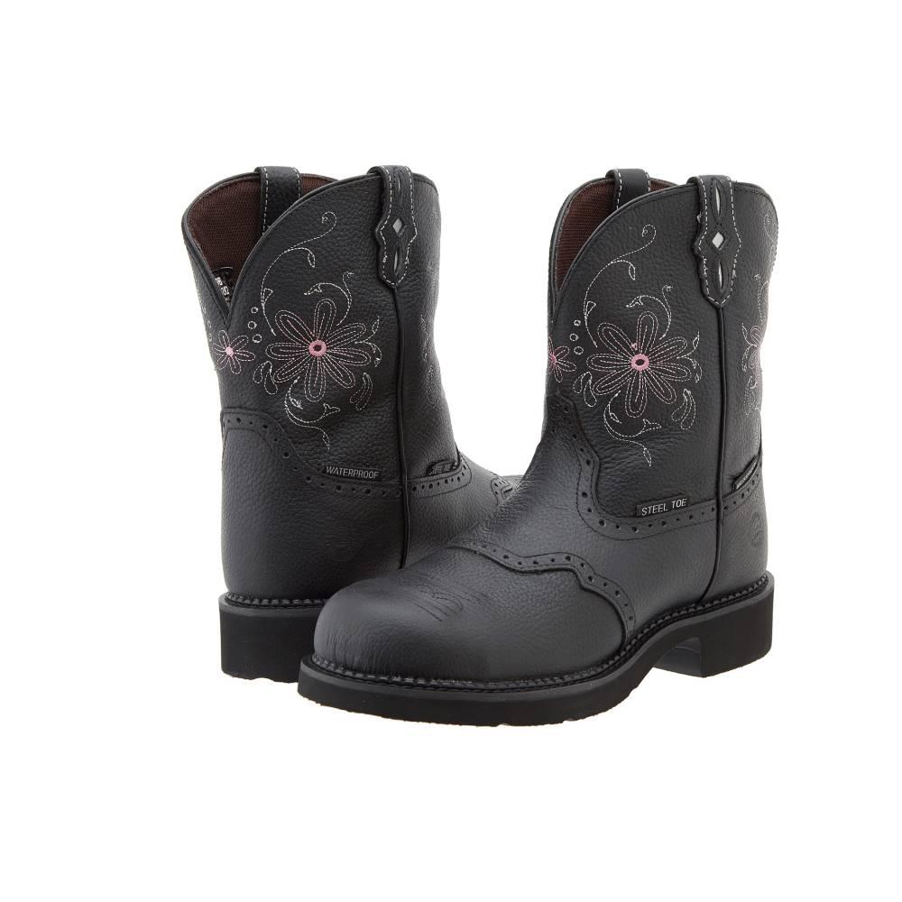 ジャスティン レディース シューズ・靴 ブーツ【WKL9982 Steel Toe】Black Grain Pebble