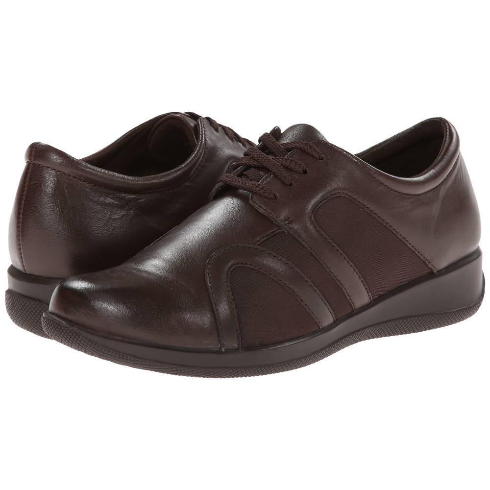 ソフトウォーク レディース シューズ・靴 ローファー・オックスフォード【Topeka】Dark Brown Burnished Soft Kid Leather/Stretch