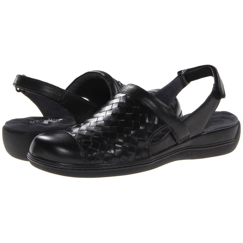ソフトウォーク レディース シューズ・靴 サンダル・ミュール【Salina Woven】Black Burnished Veg Kid Leather