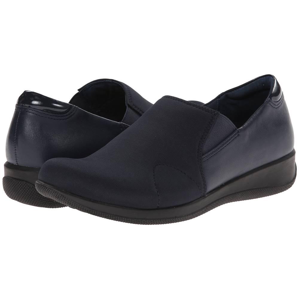 ソフトウォーク レディース シューズ・靴 ローファー・オックスフォード【Tilton】Navy Stretch/Patent Leather/Burnished Soft Kid