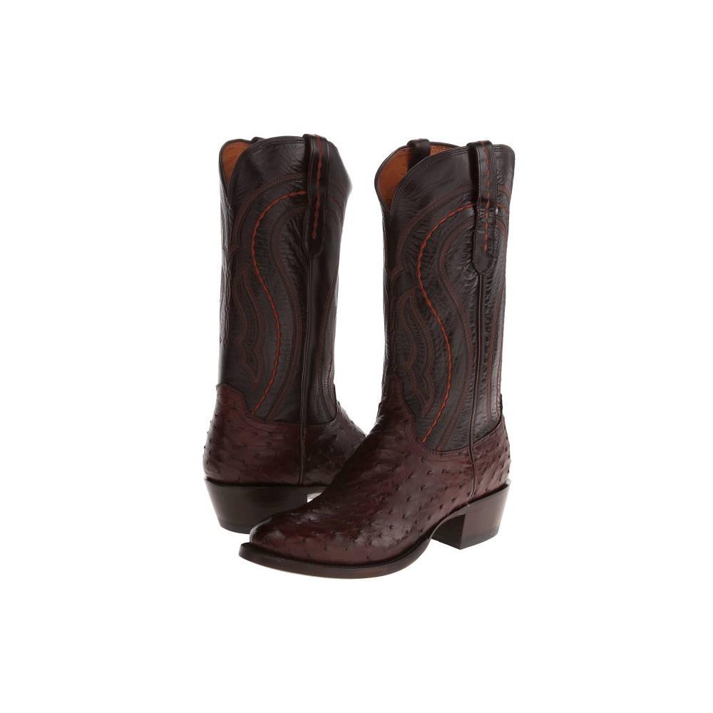ルケーシー メンズ シューズ?靴 ブーツ【M1607.R4】Sienna F.Q. Ostrich/Dark Brown Derby Calf