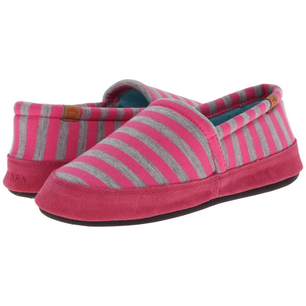 エーコーン レディース シューズ・靴 スリッパ【Acorn Moc Summerweight】Pink Stripe