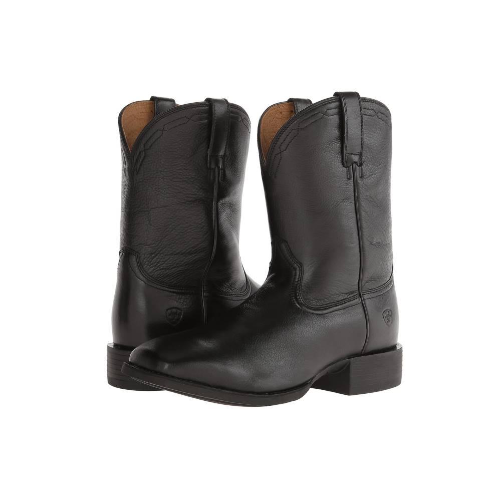 アリアト メンズ シューズ・靴 ブーツ【Heritage Roper Wide Square Toe】Black Deertan